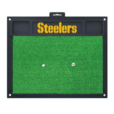 NFL Pittsburgh Steelers 17 in. x 20 in. Golf Hitting Mat
