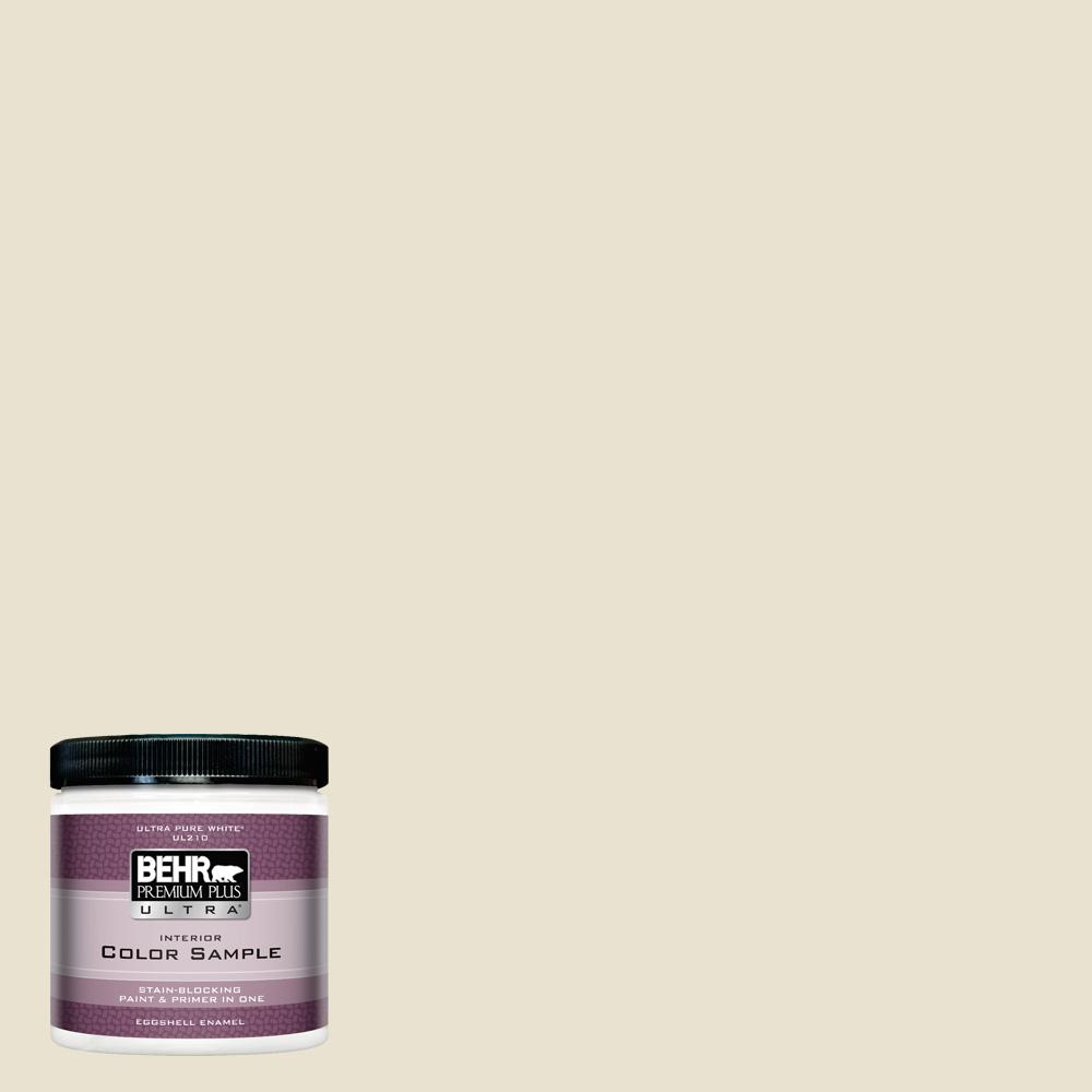 BEHR Premium Plus Ultra 8 oz  #S330-1 Baby Artichoke Eggshell Enamel  Interior Paint and Primer in One Sample