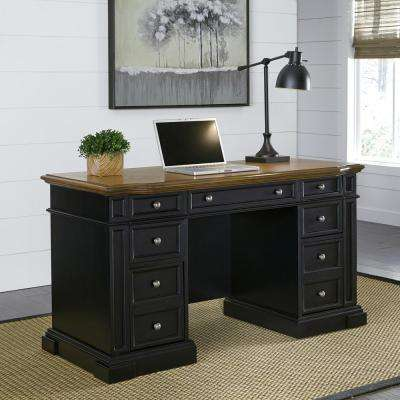 Americana Black Desk with Storage
