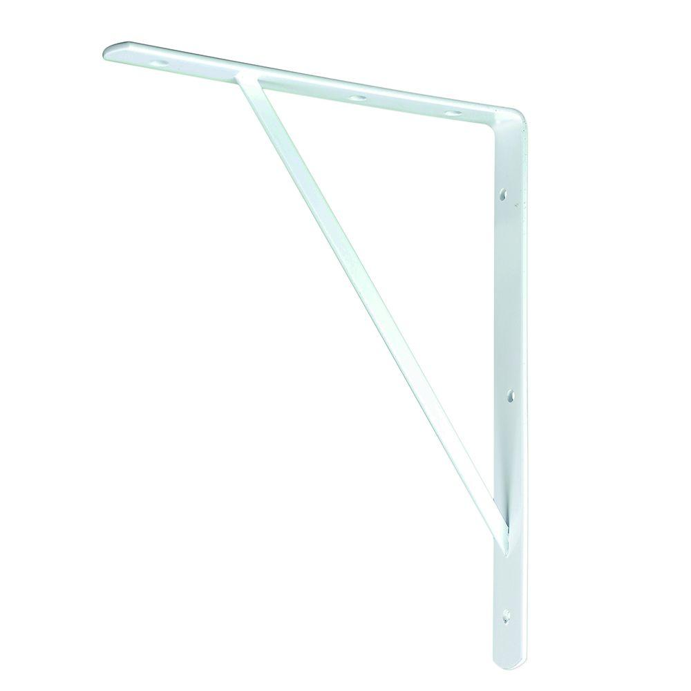 10 in. x 8 in. White Medium Duty Shelf Bracket