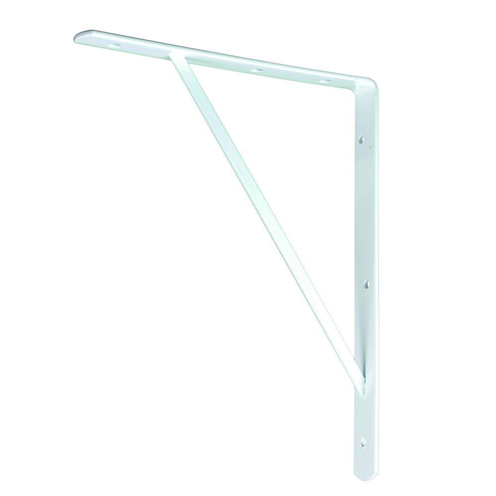 everbilt 10 in x 8 in white medium duty shelf bracket 14267 the home depot. Black Bedroom Furniture Sets. Home Design Ideas