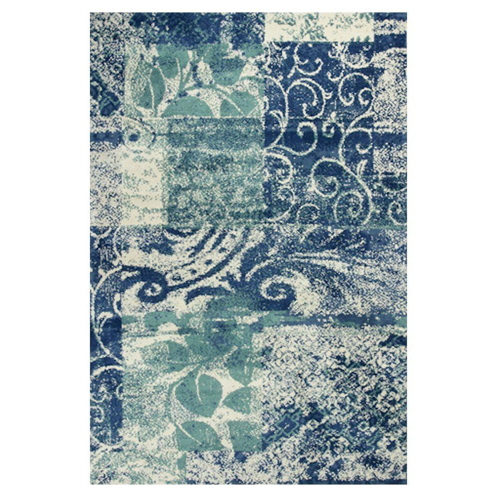 Kas Rugs Whimsical Palette Blue/Green 6 ft. 7 in. x 9 ft. 6 in. Area Rug