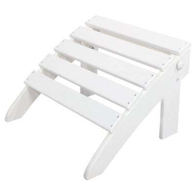 Classics White Folding Patio Ottoman