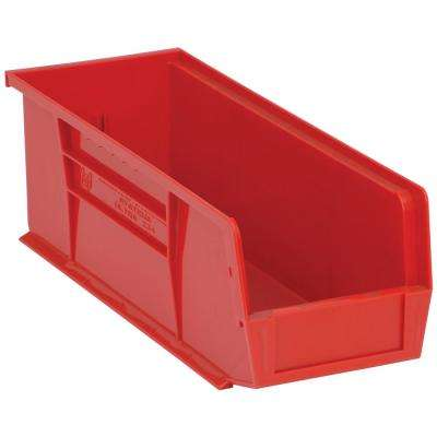Ultra Series Stack and Hang 6 Gal. Storage Bin in Red (12-Pack)