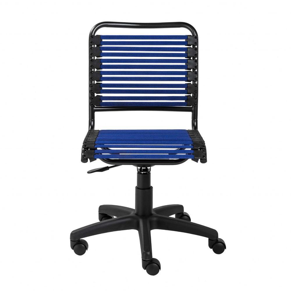 Amelia Blue Low Back Office/Desk Chair