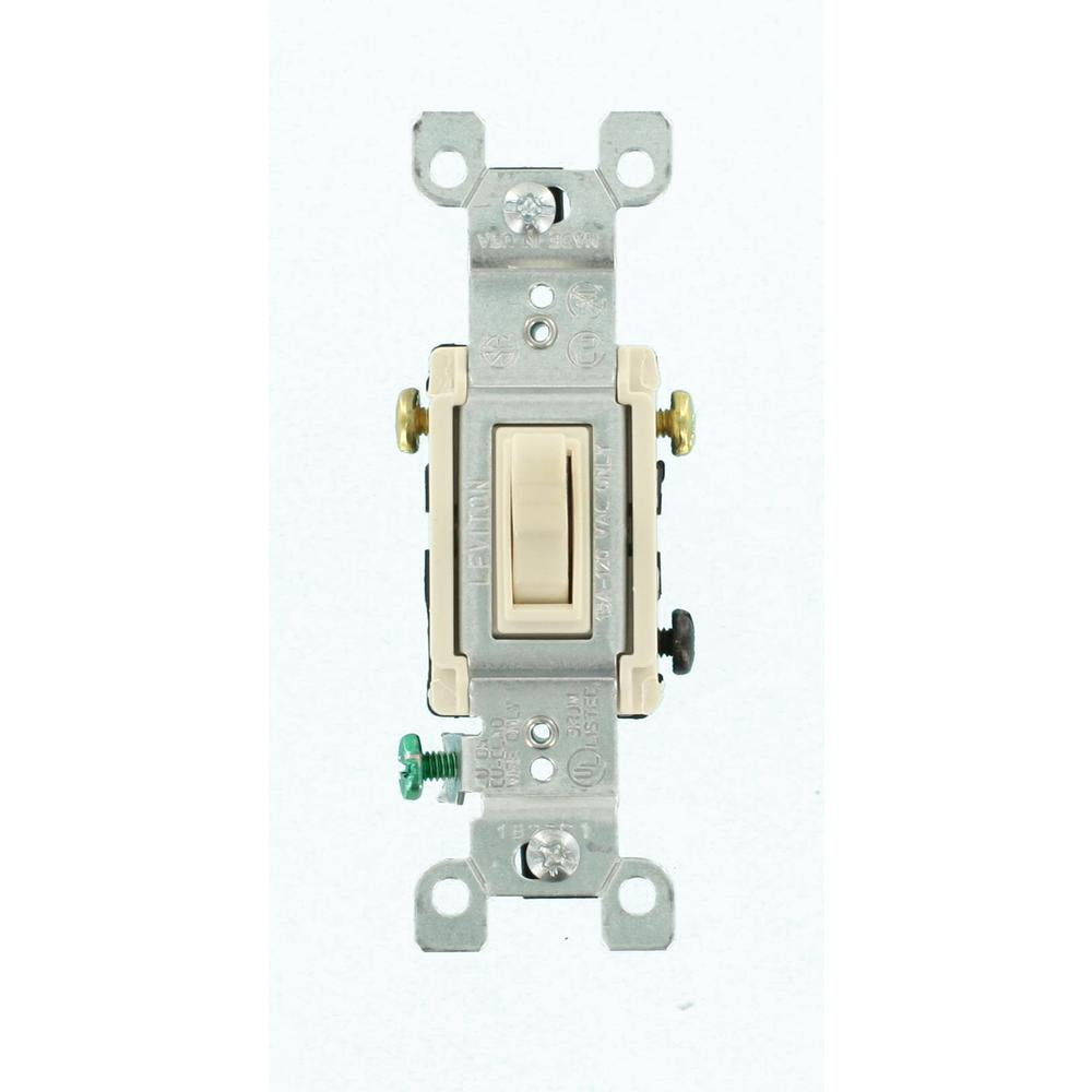 Leviton 15 Amp Smartlockpro Combination Gfci Outlet And Switch Wiring An Combo 3 Way Toggle Light Almond 12 Pack