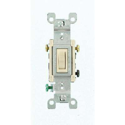 15 Amp 3-Way Toggle Switch, Light Almond (6-Pack)