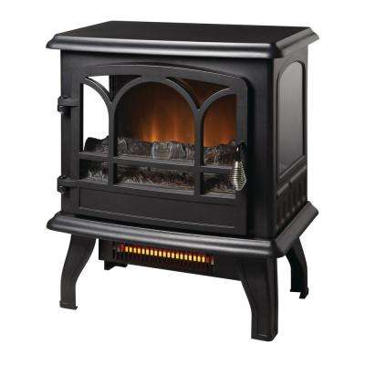 Kingham 1,000 sq. ft. Panoramic Infrared Electric Stove in Black with Electronic Thermostat