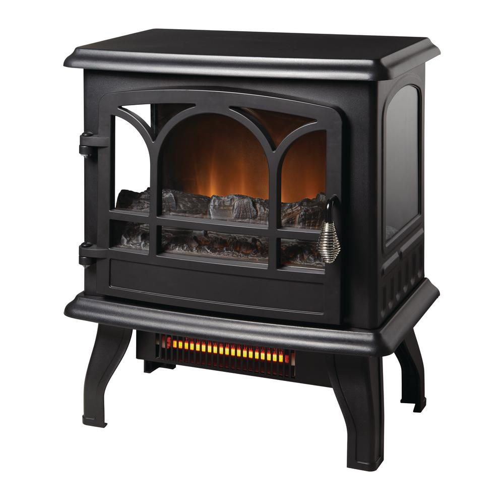 StyleWell Kingham 1,000 sq. ft. Panoramic Infrared Electric Stove in Black with Electronic Thermostat