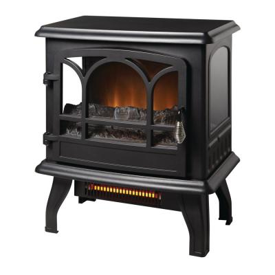 Kingham 400 sq. ft. Panoramic Infrared Electric Stove in Black with Electronic Thermostat