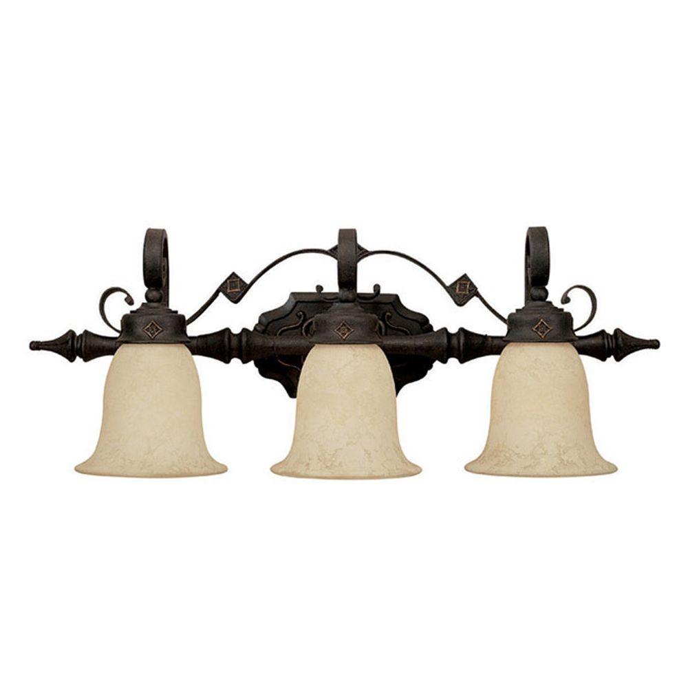 Filament Design 4-Light Outdoor Mediterranean Bronze Seeded Glass Hanging Fixture