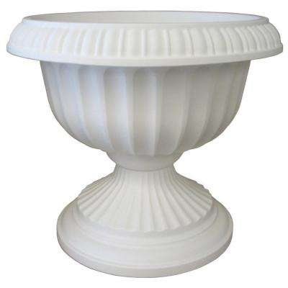 18 x 15 White Grecian Plastic Urn Planter