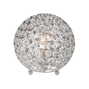 Elegant Designs 8 inch Chrome and Crystal Ball Table Lamp by Elegant Designs