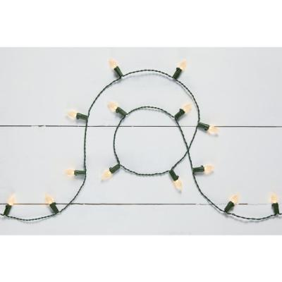 8 ft. 20-Light LED Warm White Battery Operated C3 LED Light String