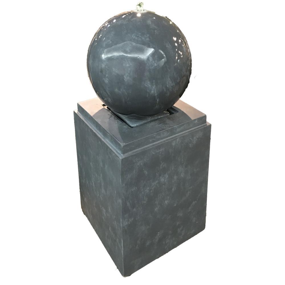 Tara Sphere Concrete Fountain
