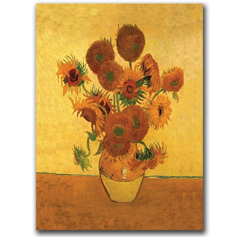 18 in. x 24 in. Vase with Sunflowers Canvas Art