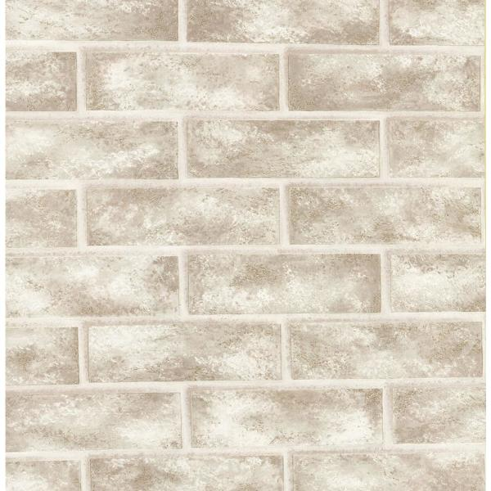 Brewster 8 in. x 10 in. Urbania White Brick Texture Wallpaper