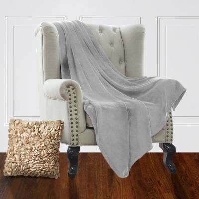 Jill Morgan Silver Fleece Queen Blanket