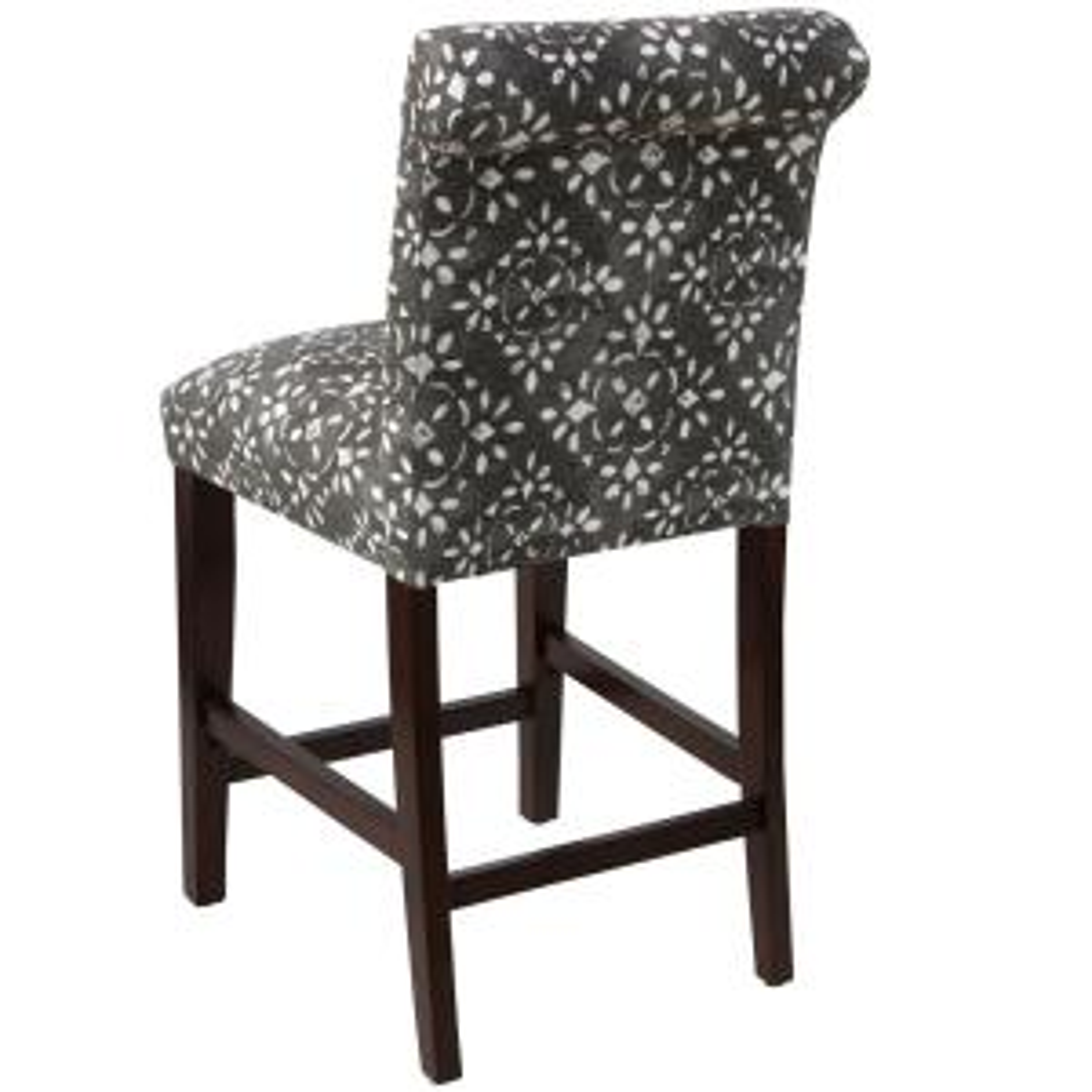 Skyline Furniture Avila Sable Slub Rolled Back Counter Stool 66 7avlsblslb The Home Depot