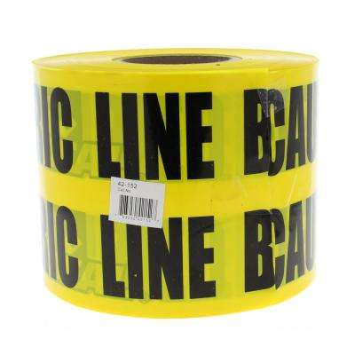 6 in. x 1,000 ft. Non-Detect Underground Caution Buried Electric Line, Yellow