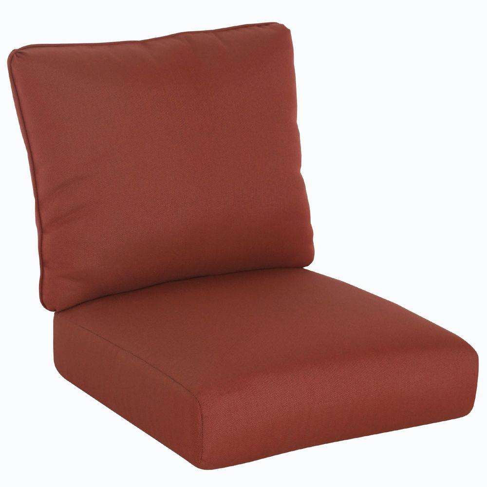 Beau Hampton Bay Tobago 22.5 X 24.3 Outdoor Chair Cushion In Standard Burgundy