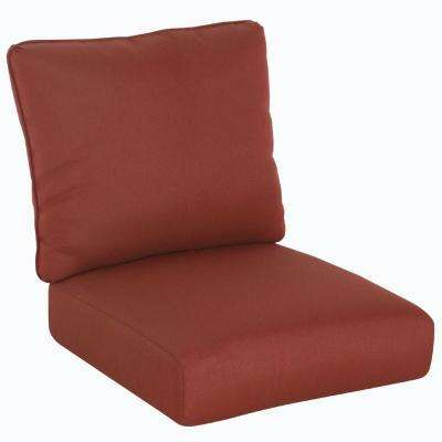 Tobago Burgundy Solid Replacement Seat and Back Cushions