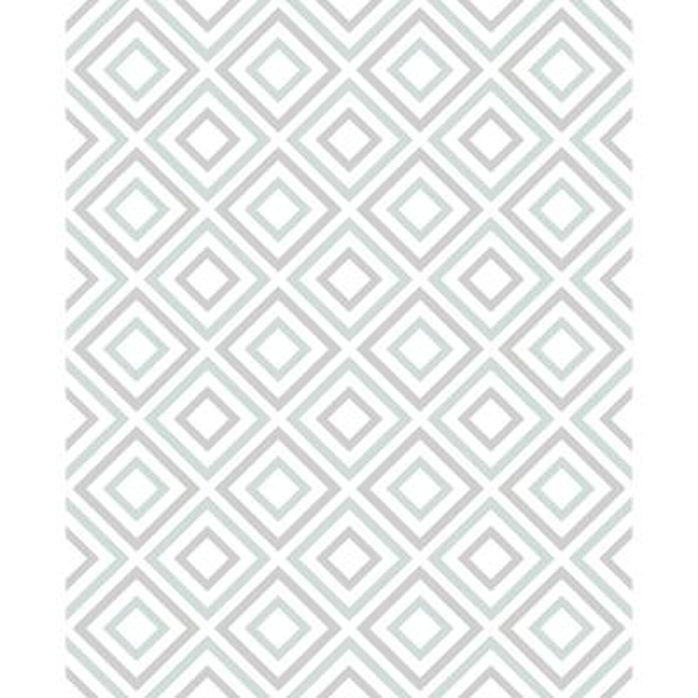 8 in. x 10 in. Horus Seafoam Diamond Geo Wallpaper Sample