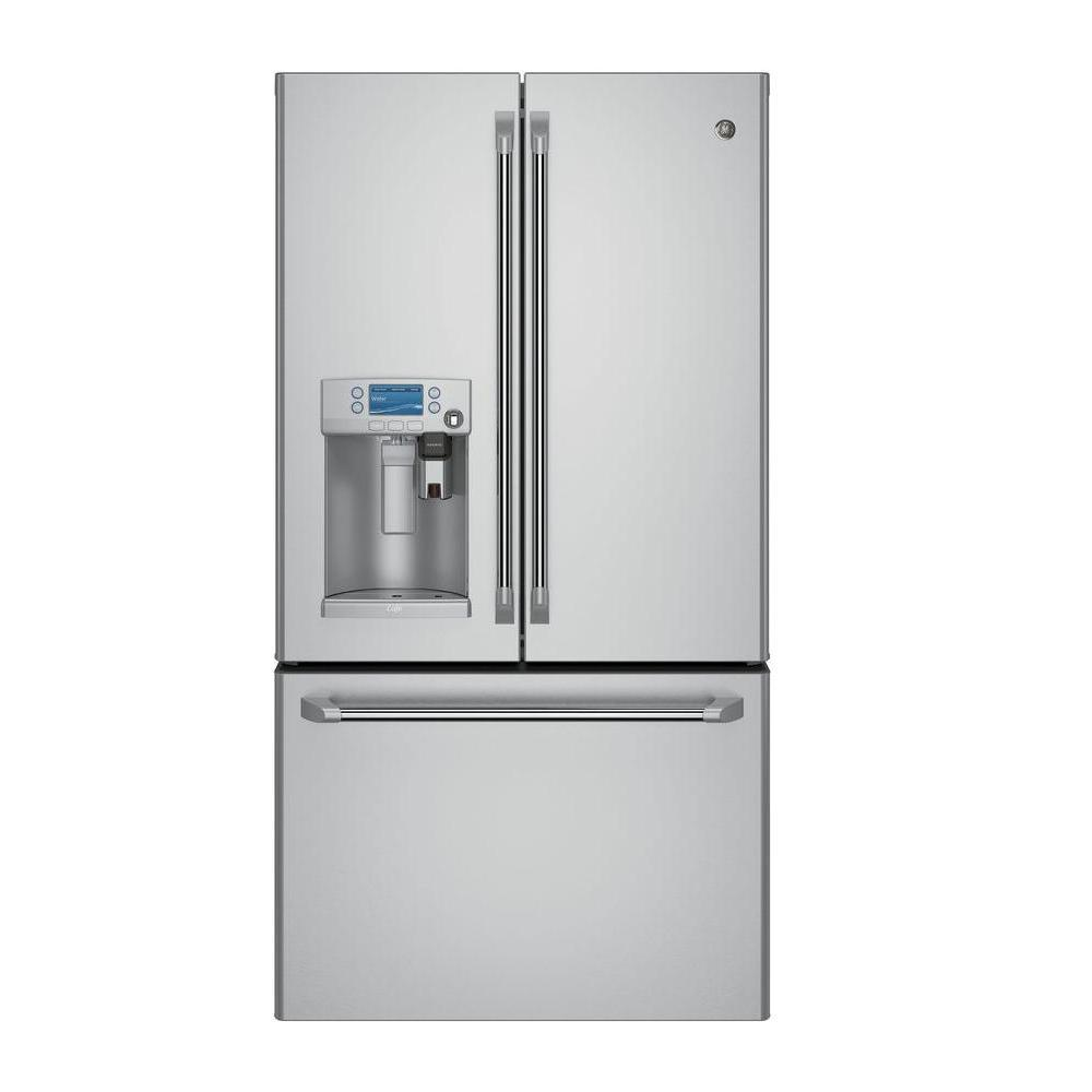 Cafe 22.2 cu. ft. Smart French Door Refrigerator with Keurig K-Cup in Stainless Steel, Counter Depth and ENERGY STAR