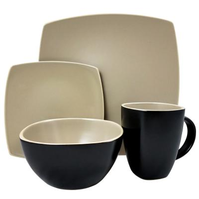 Infinite Glaze Matte 16-Piece Dinnerware Set