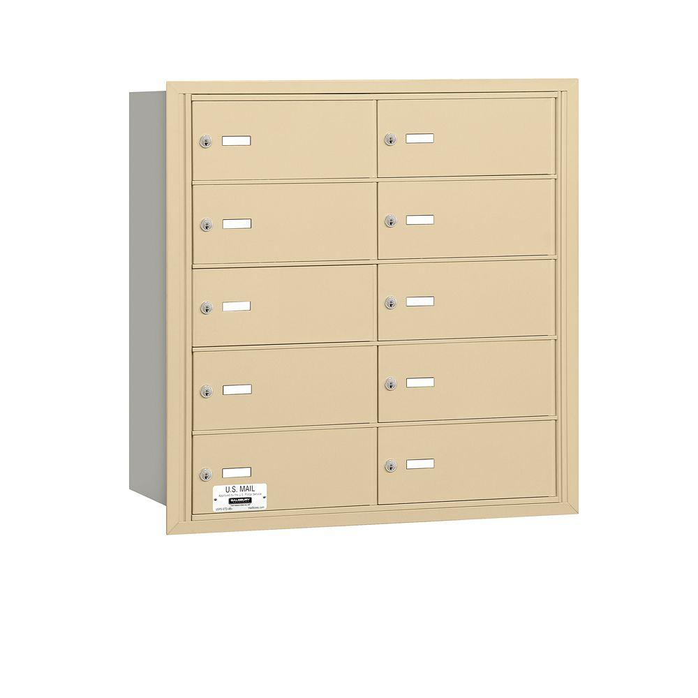 Salsbury Industries Sandstone Usps Access Rear Loading 4b Plus Horizontal Mailbox With 10b Doors 3610sru The Home Depot