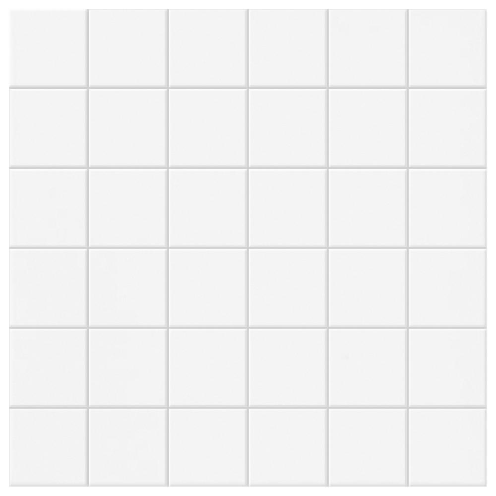 Daltile Permatones Glacier 12 in. x 12 in. x 8 mm Ceramic Mosaic Floor and Wall Tile (1 sq. ft. / piece)