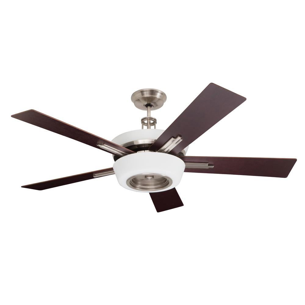 Emerson Laclede Eco 62 In Brushed Steel Ceiling Fan