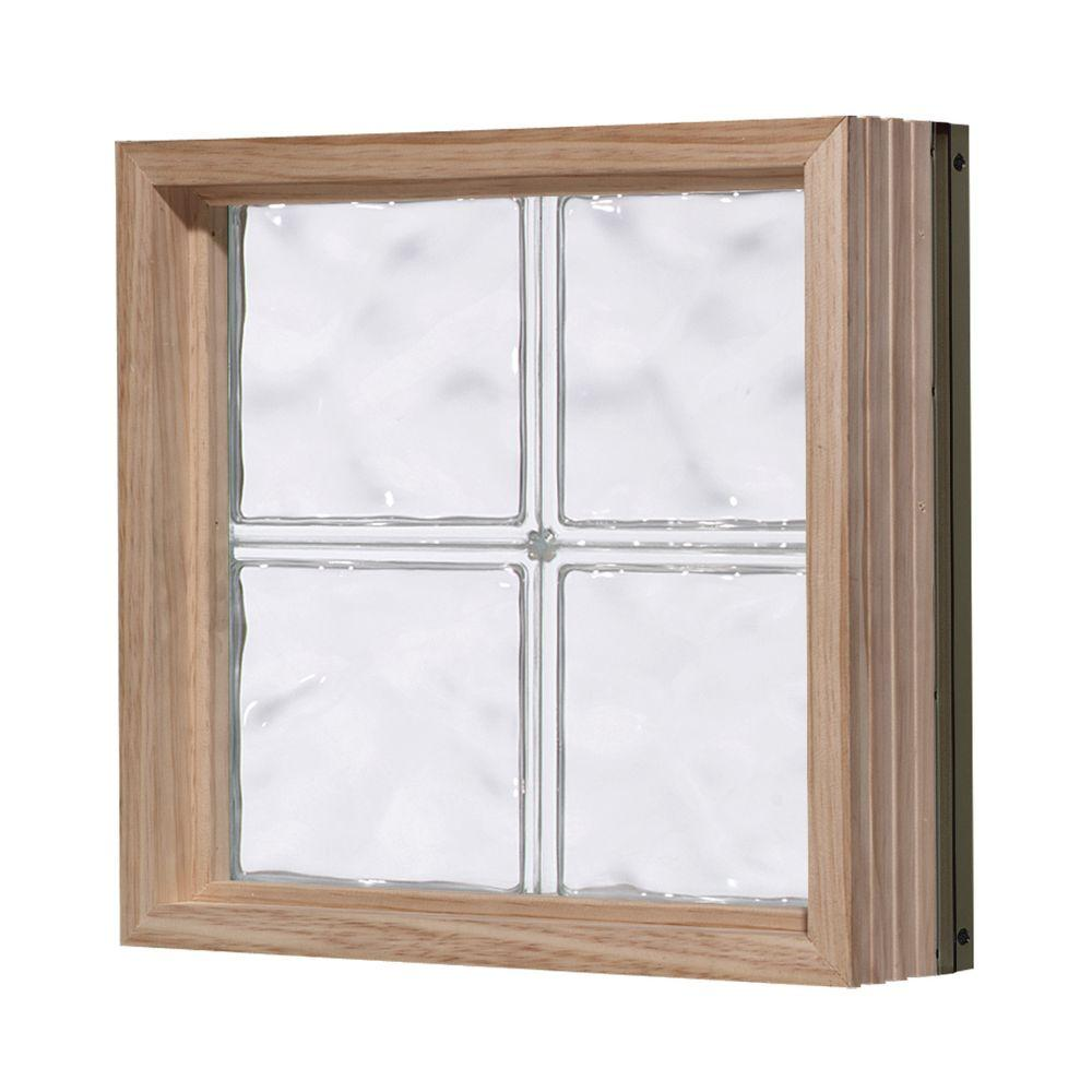 Pittsburgh Corning 56 in. x 32 in. LightWise Decora Pattern Aluminum-Clad Glass Block Window