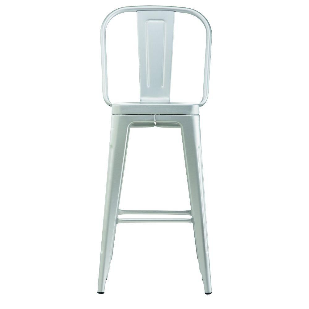 Home Decorators Collection Garden 30 In Brushed Aluminum Bar Stool With Back 1043000200 The