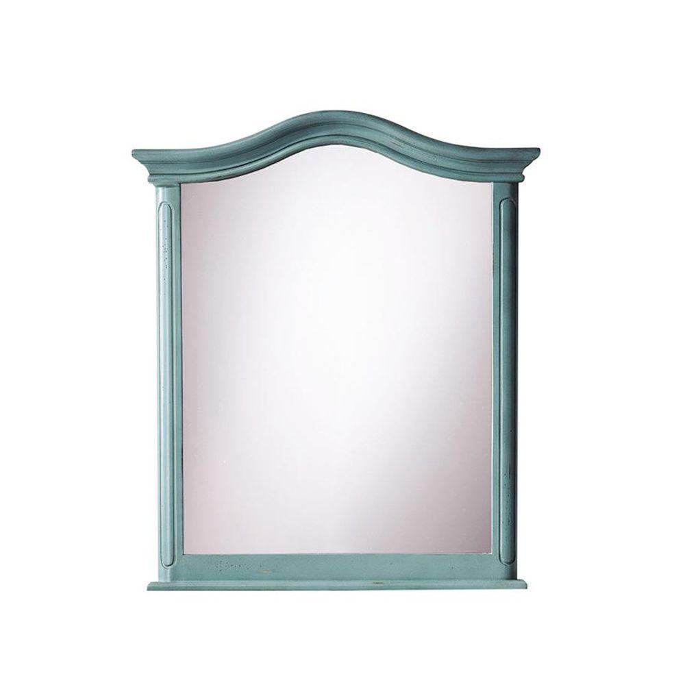 Home decorators collection provence 29 in w x 33 in l wall mirror in blue 1112900310 the - Home decor wall mirrors collection ...