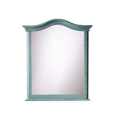 Provence 29 in. W x 33 in. L Wall Mirror in Blue