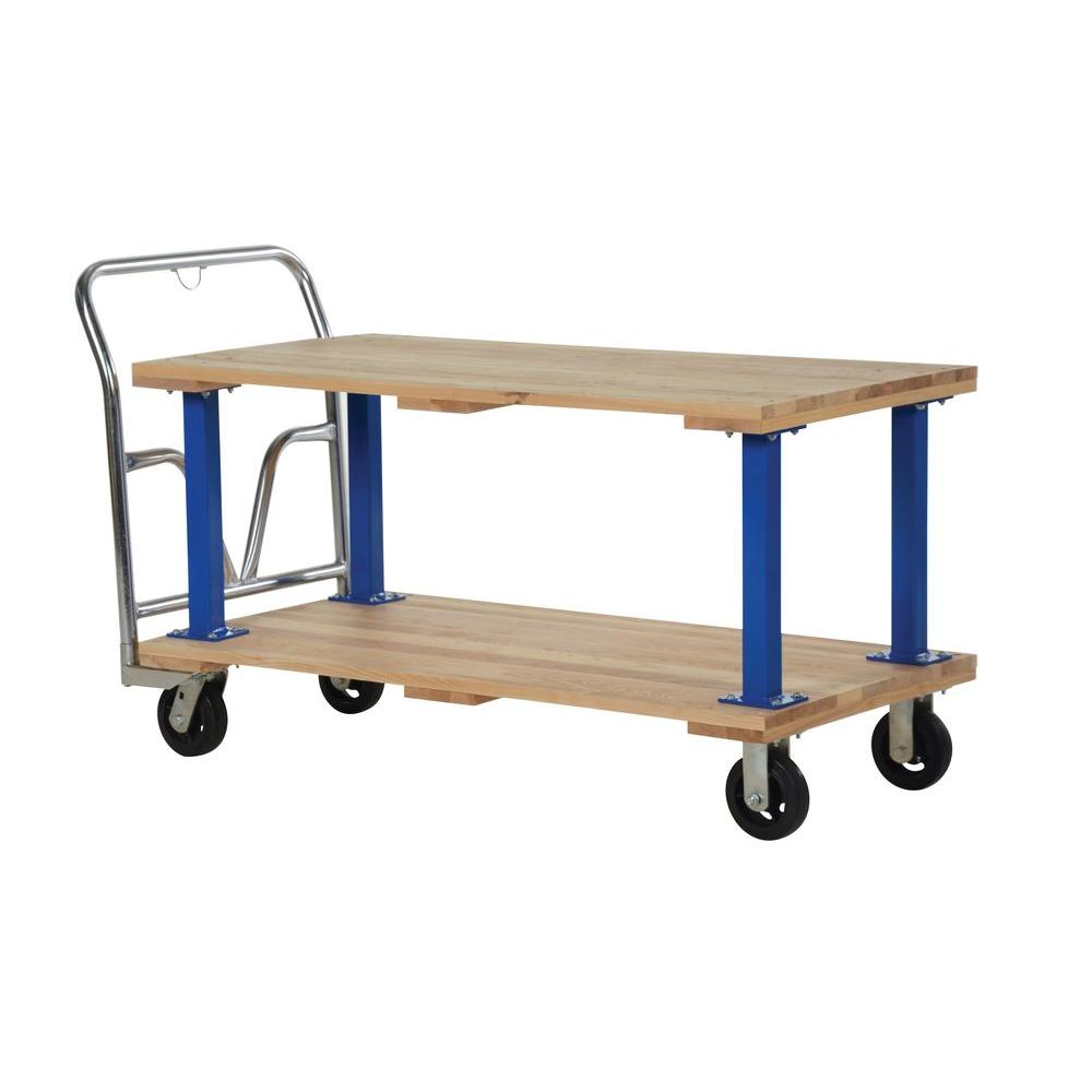 1,600 lb. Capacity 27 in. x 54 in. Double Deck Hardwood