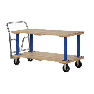 1,600 lb. Capacity 27 in. x 54 in. Double Deck Hardwood Platform Cart