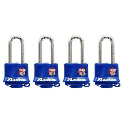 1-9/16 in. Weather Resistant Laminated Steel Padlock with 2 in. Shackle (4-Pack)