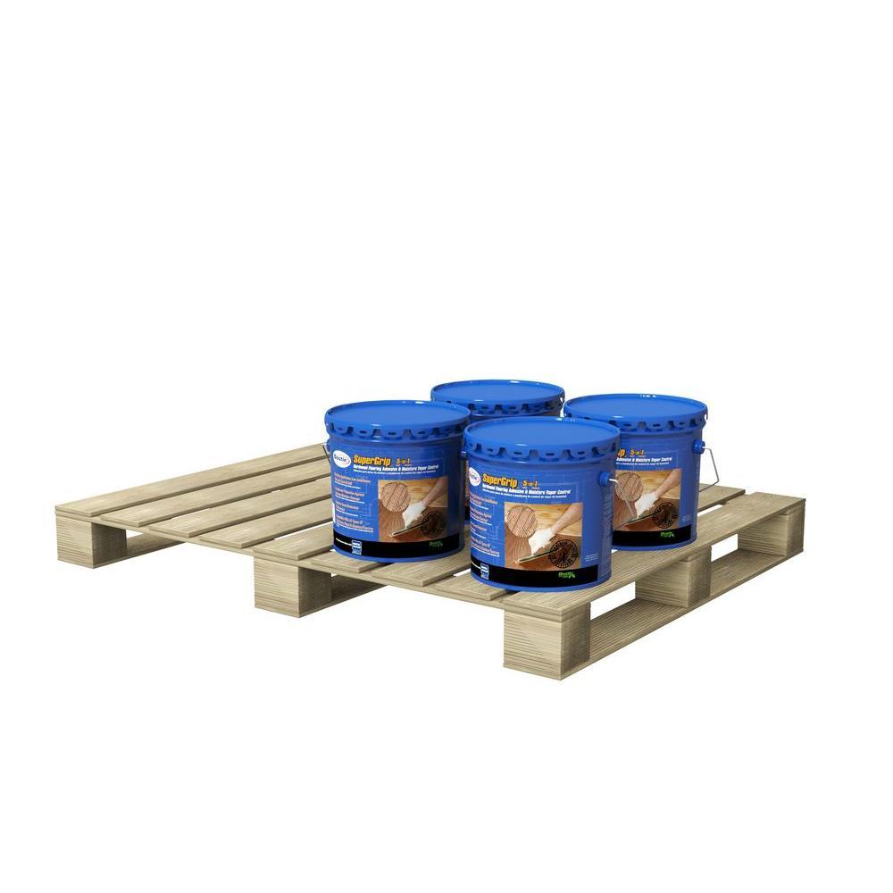 SuperGrip 3.5-Gal. Urethane Hardwood Adhesive and Moisture Vapor Control (4 Pail Pallet)