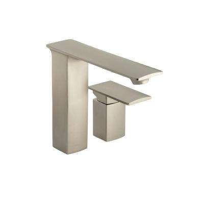 Stance Single-Handle Deck-Mount Bathroom Faucet in Vibrant Brushed Nickel