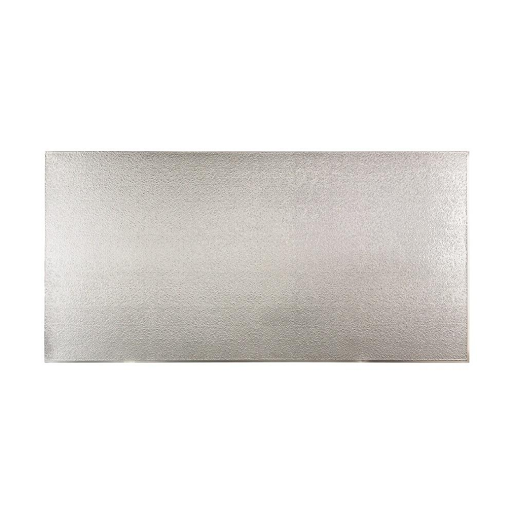 96 in. x 48 in. Hammered Decorative Wall Panel in Brushed