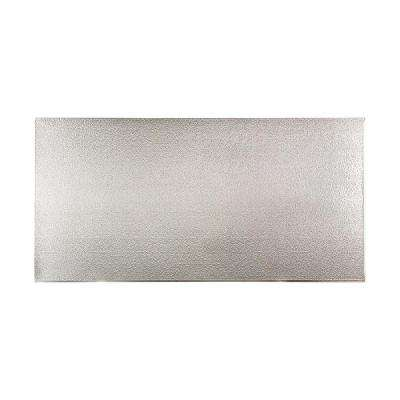 96 in. x 48 in. Hammered Decorative Wall Panel in Brushed Aluminum