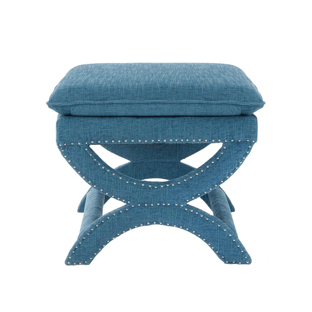 Valencia 19-1/2 in. Vanity Stool in Northgate Peacock