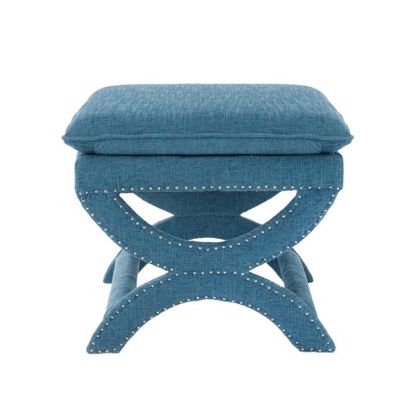 Home Decorators Collection Valencia 19-1/2 in. Vanity Stool in Northgate Peacock