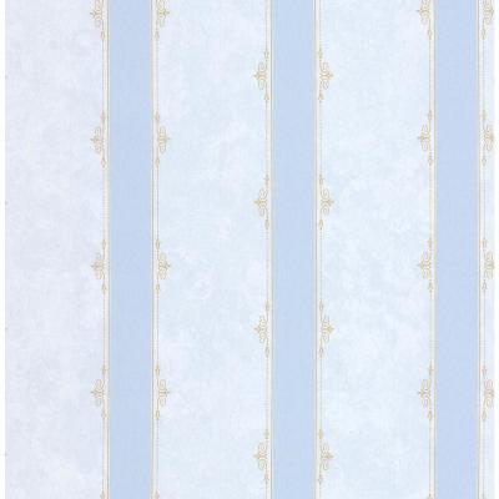 Madelyn Light Blue Striped Wallpaper