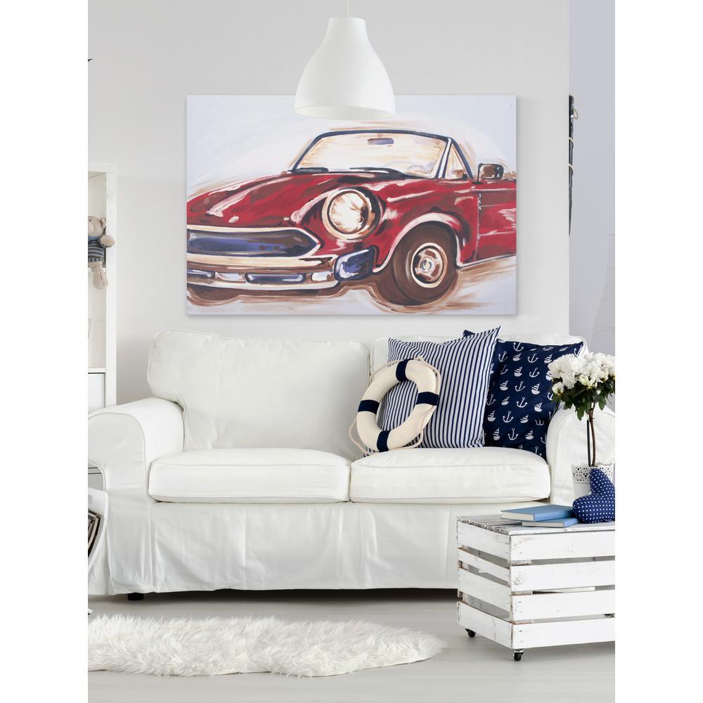 "40 in. H x 60 in. W ""Vintage Car"" by Reesa Qualia Printed Canvas Wall Art"