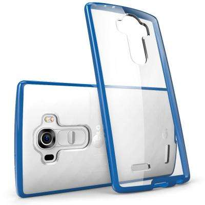 Halo Scratch Resistant Case for LG G4, Clear/Navy