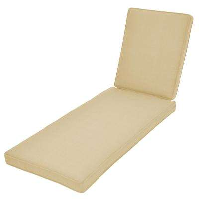 Spring Haven CushionGuard Oatmeal Replacement Outdoor Chaise Cushion