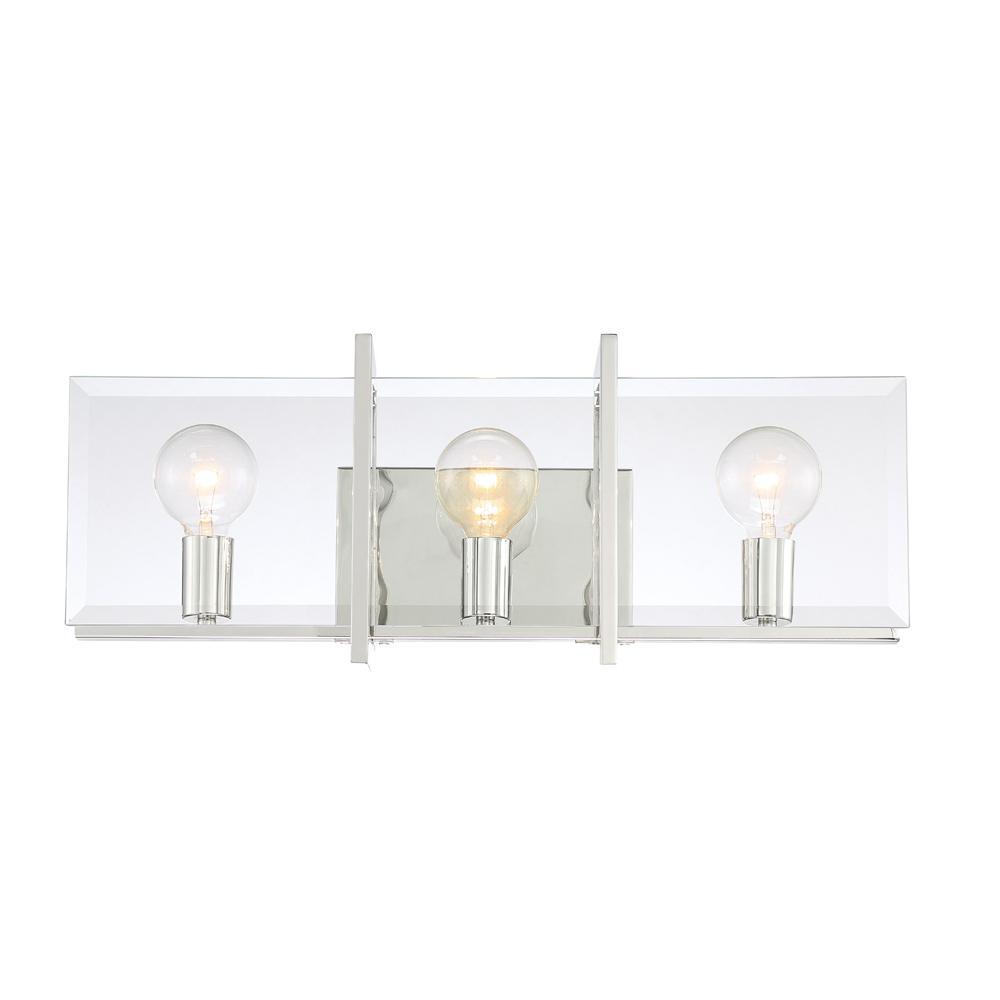 Ethan 3-Light Polished Nickel Interior Bath Bar Light